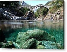 Roman Bridge Acrylic Print