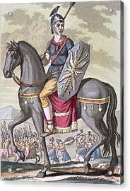 Roman Cavalryman Of The State Army Acrylic Print by Jacques Grasset de Saint-Sauveur