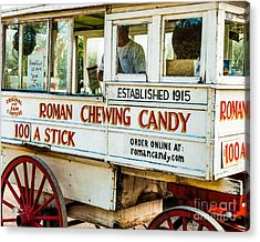Roman Chewing Candy Nola Acrylic Print by Kathleen K Parker