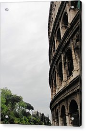 Acrylic Print featuring the photograph Roman Coliseum by Tiffany Erdman