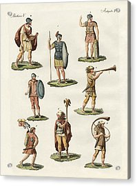 Roman Foot Soldiers Acrylic Print