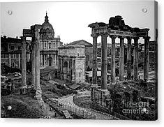 Roman Forum At Sunrise Acrylic Print by Anthony Festa