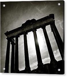 Roman Forum Acrylic Print by Dave Bowman