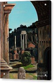 Roman Forum Acrylic Print by Nancy Bradley