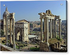 Roman Forum  Acrylic Print by Tony Murtagh
