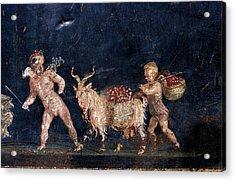 Roman Fresco Showing Flower Dealers Acrylic Print by Patrick Landmann/science Photo Library