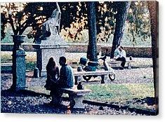 Acrylic Print featuring the photograph Roman Romance Tivoli Gardens by Tom Wurl