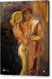 Acrylic Print featuring the painting Romance by Donna Tuten