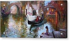 Romance In Venice 2013 Acrylic Print by Ylli Haruni