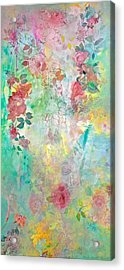 Acrylic Print featuring the painting Romance Me - Acrylic On Canvas by Brooks Garten Hauschild