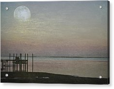 Acrylic Print featuring the photograph Romancing The Moon by Judy Hall-Folde