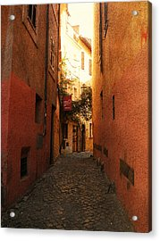 Acrylic Print featuring the photograph Romano Cartolina by Micki Findlay