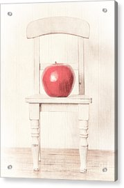 Romantic Apple Still Life Acrylic Print by Edward Fielding