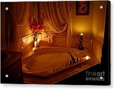 Romantic Bubble Bath Acrylic Print by Kay Novy