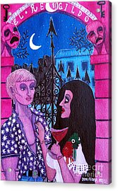 Acrylic Print featuring the painting Romantic Couple by Don Pedro De Gracia
