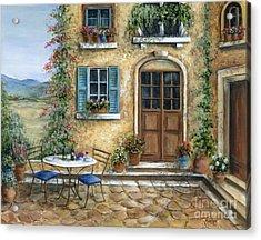 Romantic Courtyard Acrylic Print by Marilyn Dunlap