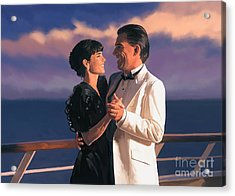 Acrylic Print featuring the painting Romantic Cruise by Tim Gilliland