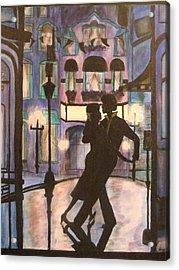 Romantic Dance Acrylic Print by Lynne McQueen