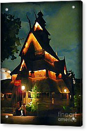 Romantic Evening For Two Acrylic Print