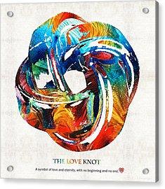 Romantic Love Art - The Love Knot - By Sharon Cummings Acrylic Print by Sharon Cummings