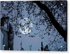 Romantic Moon 2  Acrylic Print by Angel Jesus De la Fuente