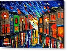 Romantic Rain Acrylic Print