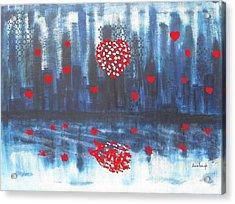 Romantic Reflection Acrylic Print by Diane Pape