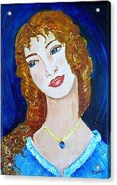 Romantic Saphire Acrylic Print by Robin Monroe
