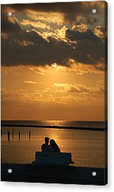 Romantic Sunrise Acrylic Print by Leticia Latocki