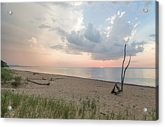 Romantic Sunset At Agate Beach Acrylic Print