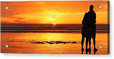 Acrylic Print featuring the photograph Romantic Sunset  by Chad Pooschke