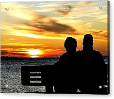 Romantic Sunset Acrylic Print by Cindy Croal