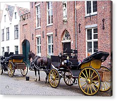 Romantic Taxi  Acrylic Print by Kevin Askew