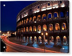 Rome Coliseum Acrylic Print by Jeff Lewis