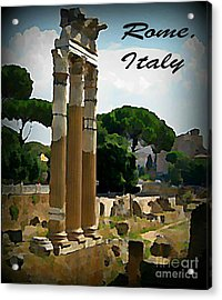 Rome Italy Poster Acrylic Print by John Malone