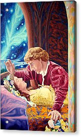 Acrylic Print featuring the painting Romeo And Juliet  by Matt Konar