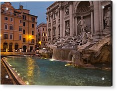 Rome's Fabulous Fountains - Trevi Fountain At Dawn Acrylic Print
