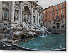 Rome's Fabulous Fountains - Trevi Fountain - No Tourists Acrylic Print
