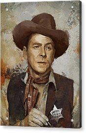 Ronald Reagan Portrait 4 Acrylic Print by Corporate Art Task Force