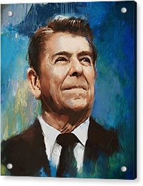 Ronald Reagan Portrait 6 Acrylic Print by Corporate Art Task Force