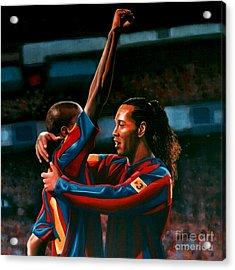 Ronaldinho And Eto'o Acrylic Print
