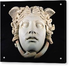 Rondanini Medusa, Copy Of A 5th Century Bc Greek Marble Original, Roman Plaster Acrylic Print