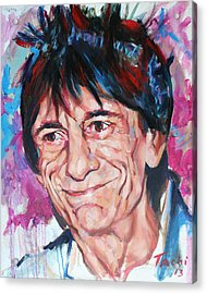 Ronnie Acrylic Print by Tachi Pintor