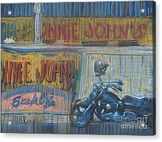 Acrylic Print featuring the painting Ronnie's Bike by Donald Maier