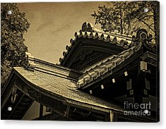 Roof Tile Details Of A Buddhist Temple I Acrylic Print