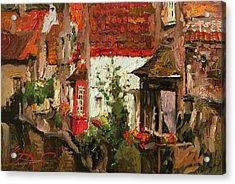 Roofs Of Brugge Acrylic Print by Oleg Trofimoff