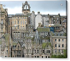 Acrylic Print featuring the photograph Roofs Of Edinburgh  by Suzanne Oesterling