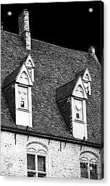 Rooftop View In Bruges Acrylic Print by John Rizzuto