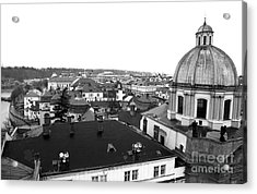 Rooftop View In Praha Acrylic Print by John Rizzuto
