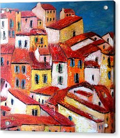 Rooftops Collioure Acrylic Print
